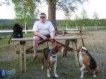 91.jpg - <p>Daniel med sina båda hundar</p> <p><em>Foto: Ragnhild Lindkvist</em></p>
