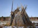 """Installation - <p>14/10 Lars Vilks har varit i byn, """"Nimis 2"""".</p> <p><em>Foto: Marina Nyman</em></p>"""